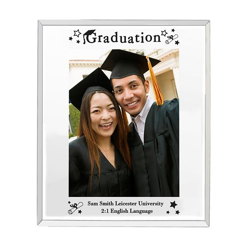 Mirrored Graduation Glass Frame 5x7 - Product number 4099222