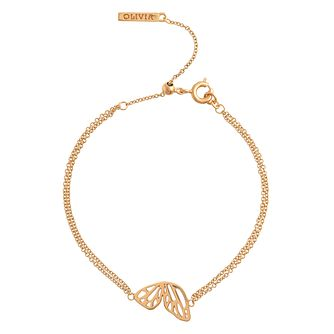 Olivia Burton Yellow Gold Plated   Wing Bracelet - Product number 4102126