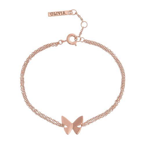 Olivia Burton Rose Gold Metal Plated Butterfly Bracelet - Product number 4102185