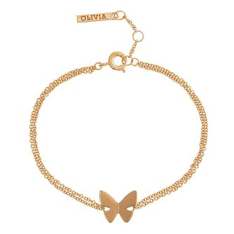 Olivia Burton Yellow Gold Plated Butterfly Bracelet - Product number 4102215