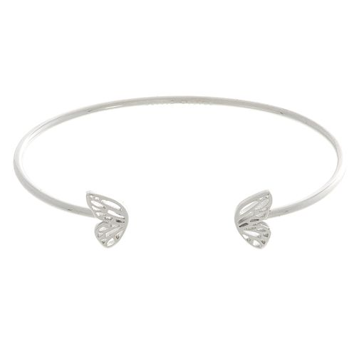 Olivia Burton Rhodium Plated Butterfly Wing Bangle - Product number 4102231