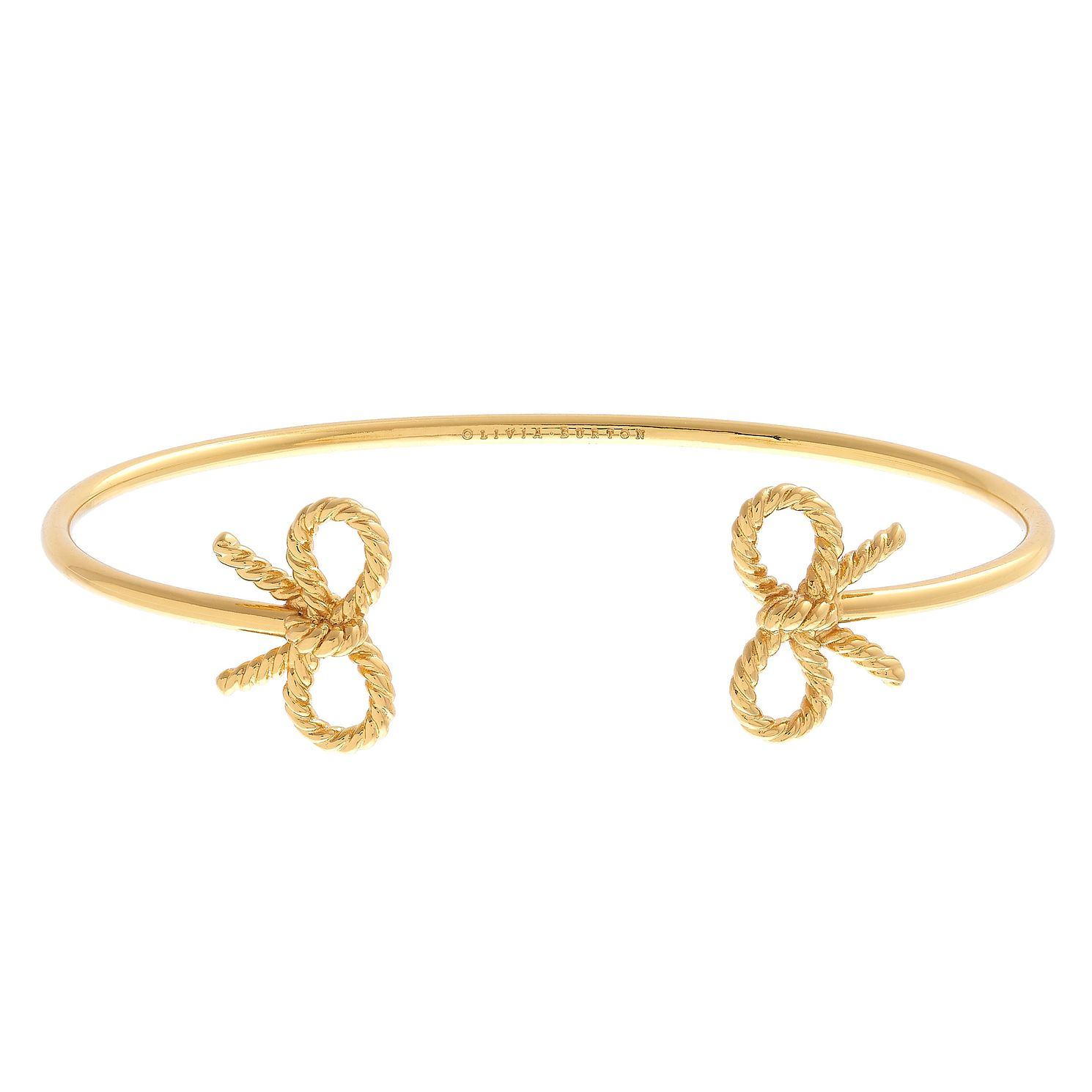 Olivia Burton Vintage Bow Yellow Gold Metal Plated Bangle - Product number 4102398