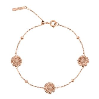 Olivia Burton 3D Daisy Rose Gold Metal Plated Bracelet - Product number 4102428