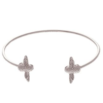 Olivia Burton 3D Bee Rhodium Plated Bangle - Product number 4102606