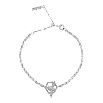 Olivia Burton Honeycomb Bee Rhodium Plated Bracelet - Product number 4102614