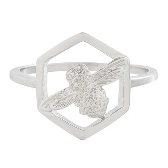 Olivia Burton Honeycomb Bee Rhodium Plated Ring - Product number 4102932