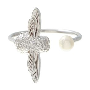 Olivia Burton Rhodium Plated' Pearl Bee Ring - Product number 4102967