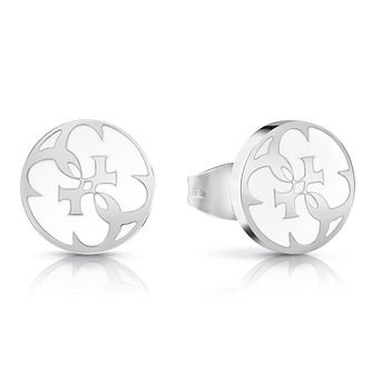 Guess Rhodium Plated 4-G Stud Earrings - Product number 4103874