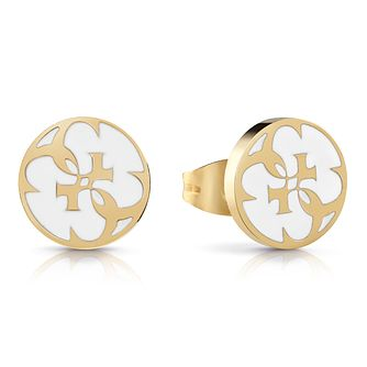 Guess Yellow Gold Tone 4-G Stud Earrings - Product number 4104021