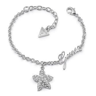 Guess Rhodium Plated Swarovski Crystal Starfish Bracelet - Product number 4104161