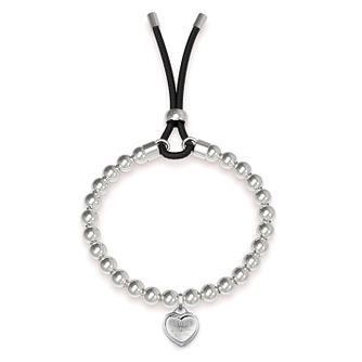 Guess Rhodium Plated Beaded Heart Bracelet - Product number 4104390