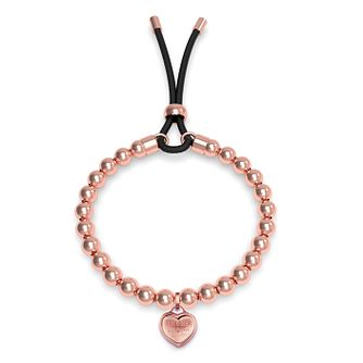 Guess Rose Gold Tone Beaded Heart Bracelet - Product number 4104404