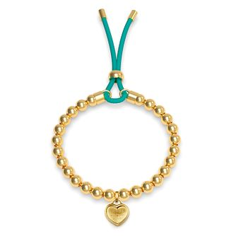 Guess Yellow Gold Tone Beaded Heart Bracelet - Product number 4104412
