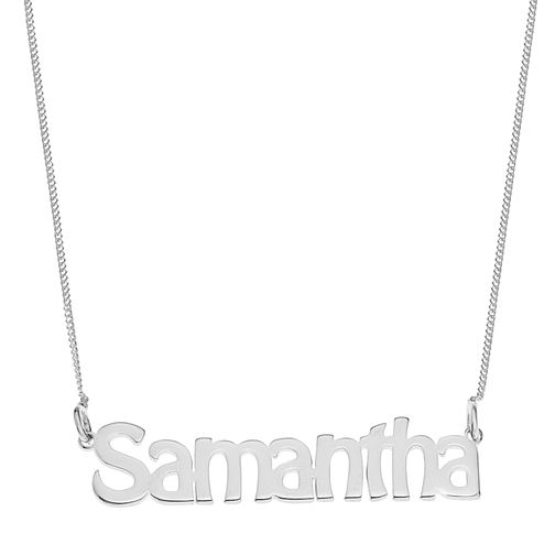 Sterling Silver Samantha Nameplate Necklace - Product number 4104587