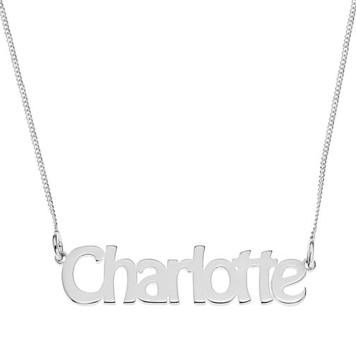 Sterling Silver Charlotte Nameplate Necklace - Product number 4104609