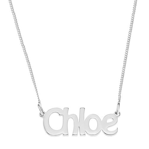 Sterling Silver Chloe Nameplate Necklace - Product number 4104625