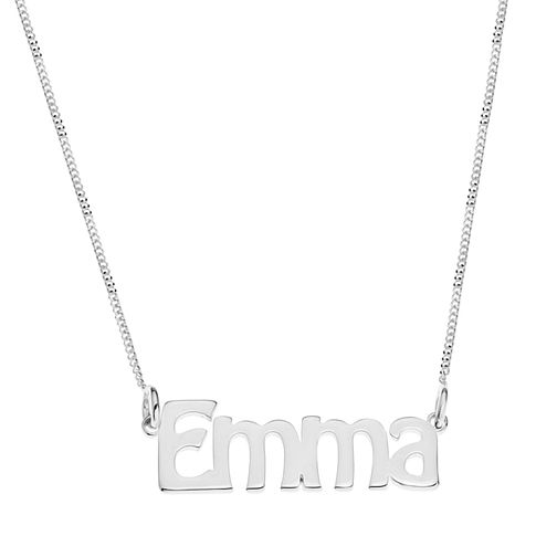 Sterling Silver Emma Nameplate Necklace - Product number 4104641