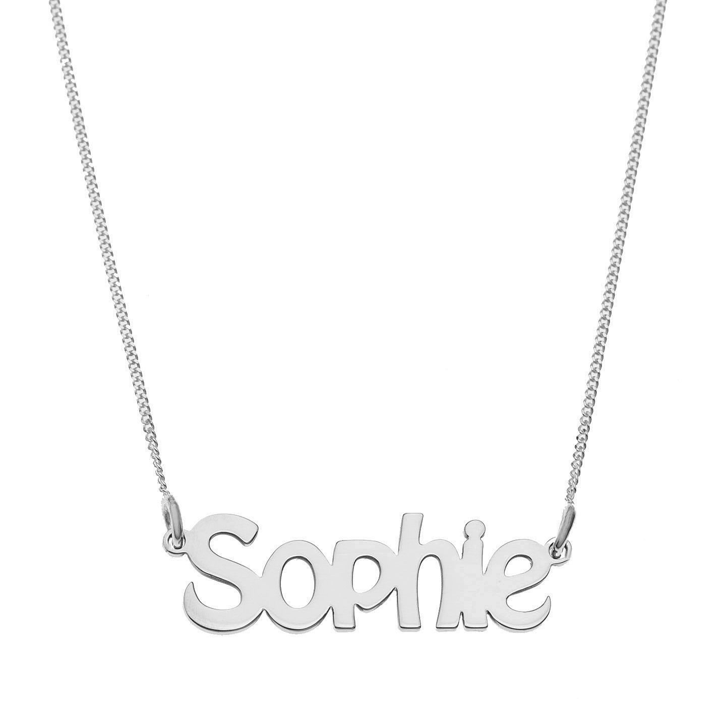 Sterling Silver Sophie Nameplate Necklace - Product number 4104676