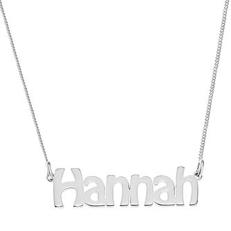 Sterling Silver Hannah Nameplate Necklace - Product number 4104757