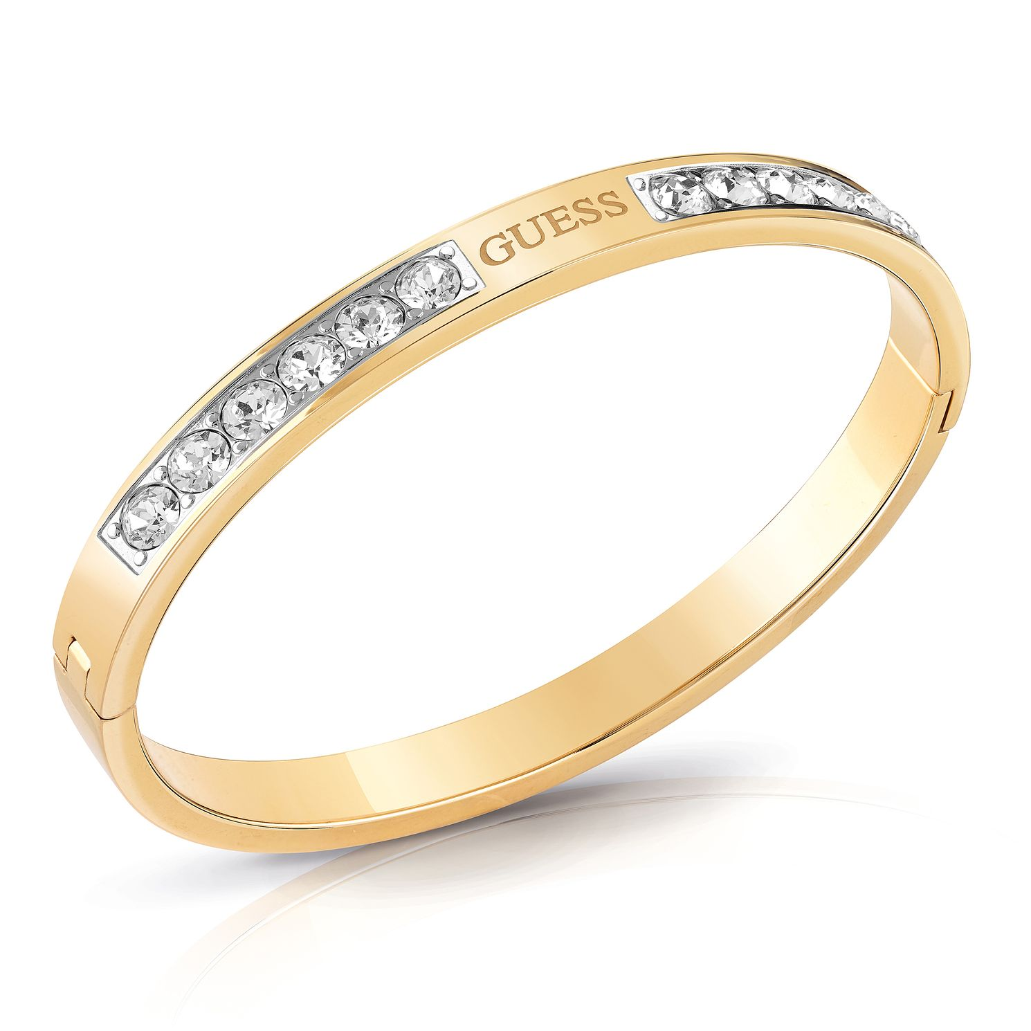 Guess Yellow Gold Tone Swarovski Crystal Bangle - Product number 4104765