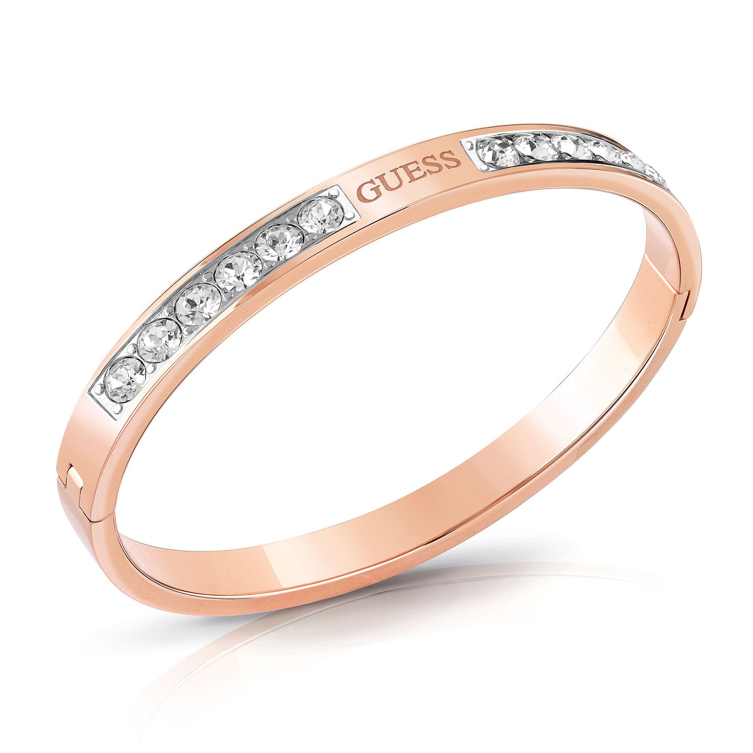 Guess Rose Gold Tone Swarovski Crystal Bangle - Product number 4104781