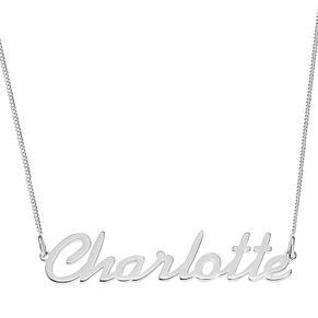 Sterling Silver Charlotte Italics Nameplate Necklace - Product number 4104838