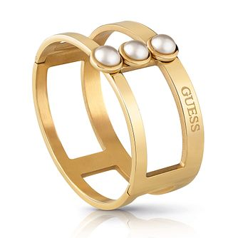 Guess Yellow Gold Tone Faux Pearl Bracelet - Product number 4104854