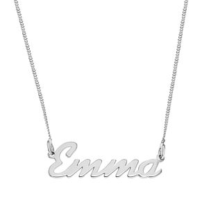 Sterling Silver Emma Italics Nameplate Necklace - Product number 4104862
