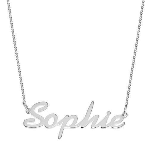 Sterling Silver Sophie Italics Nameplate Necklace - Product number 4104897