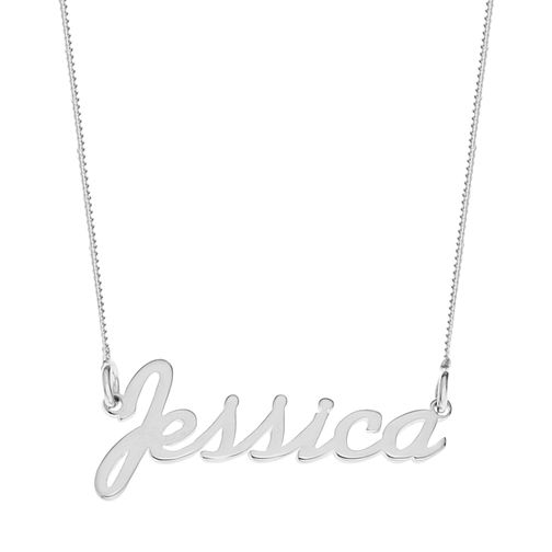 Sterling Silver Jessica Italics Nameplate Necklace - Product number 4104927