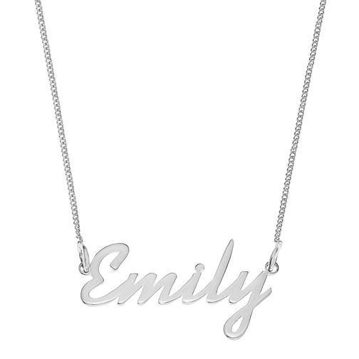 Sterling Silver Emily Italics Nameplate Necklace - Product number 4104943