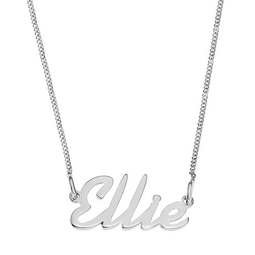 Sterling Silver Ellie Italics Nameplate Necklace - Product number 4104978