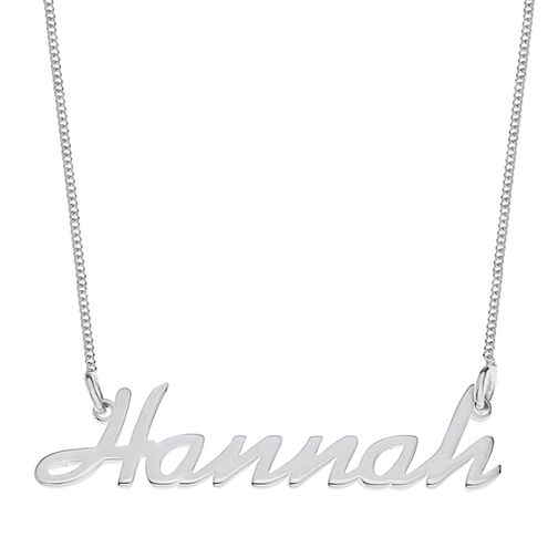 Sterling Silver Hannah Italics Nameplate Necklace - Product number 4105001