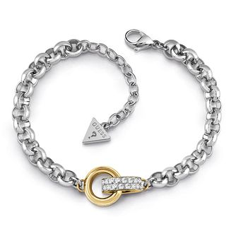 Guess Two Tone Swarovski Crystal Rings Bracelet - Product number 4105079