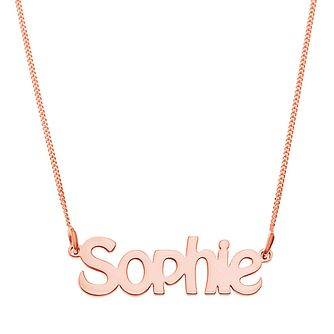 Rose Gold Plated Silver Sophie Nameplate Necklace - Product number 4105192