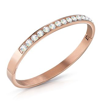Guess Rose Gold Tone Swarovski Crystal Bangle - Product number 4105303