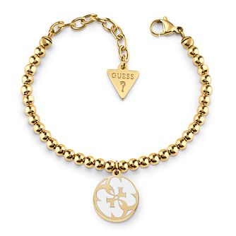 Guess Yellow Gold Plated 4-G Beaded Bracelet - Product number 4105427