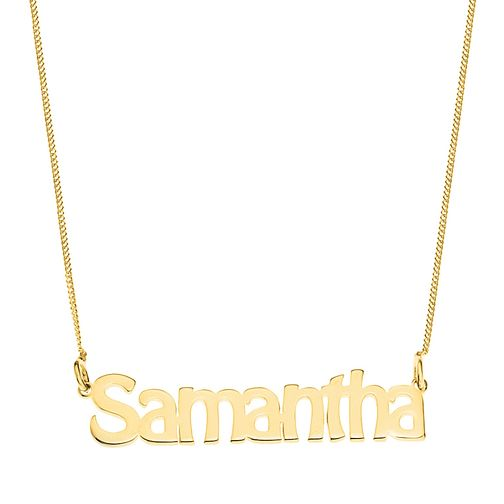 Gold Plated Silver Samantha Nameplate Necklace - Product number 4105680