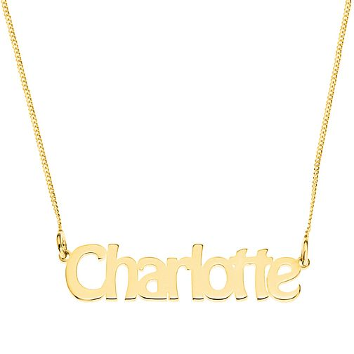 Gold Plated Silver Charlotte Nameplate Necklace - Product number 4105737