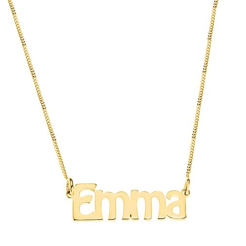 Gold Plated Silver Emma Nameplate Necklace - Product number 4105788