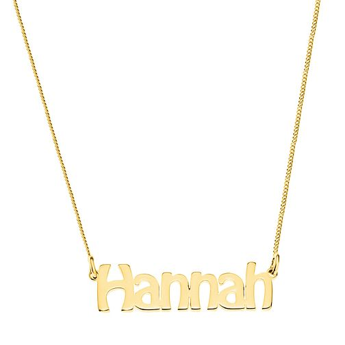 Gold Plated Silver Hannah Nameplate Necklace - Product number 4105893
