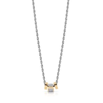 9fa5265b8 Guess Two Tone Swarovski Crystal Logo Charm Necklace - Product number  4106210