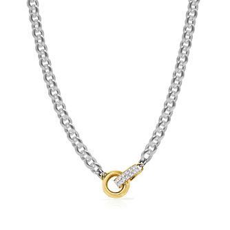 Guess Two Tone Swarovski Crystal Linked Ring Necklace - Product number 4106407