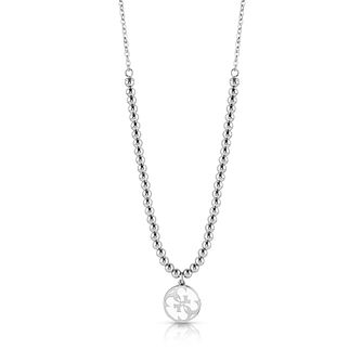 Guess Rhodium Plated 4-G Beaded Necklace - Product number 4106431