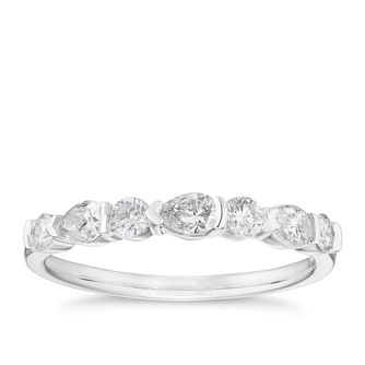 18ct White Gold 1/2ct Round & Marquise Diamond Eternity Ring - Product number 4107438