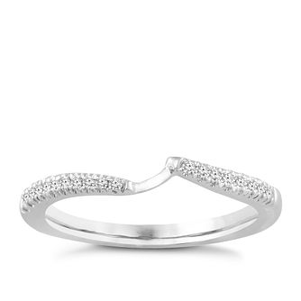 Ever Us 14ct White Gold 0.12ct Diamond Shaped Band - Product number 4109376