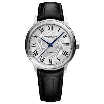 Raymond Weil Maestro Men's Black Leather Strap Watch - Product number 4109953