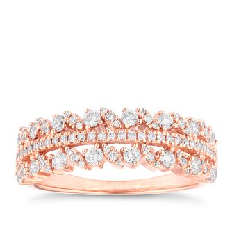 18ct Rose Gold 1/2ct Diamond Fancy Eternity Ring - Product number 4110188