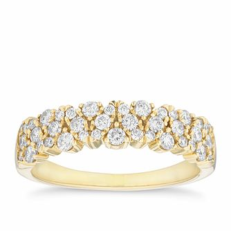 18ct Yellow Gold 1/2ct Diamond Fancy Eternity Ring - Product number 4114108