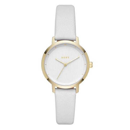 DKNY The Modernist Yellow Gold Tone Grey Strap Watch - Product number 4114191
